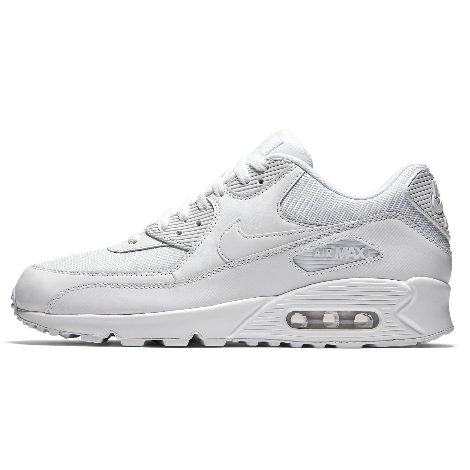 Nike air max 90 Essential pelle tessuto bianco 537384 111